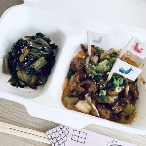 ホルモン焼&広島菜キムチ